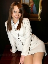 Hot porno babe Saki showing off